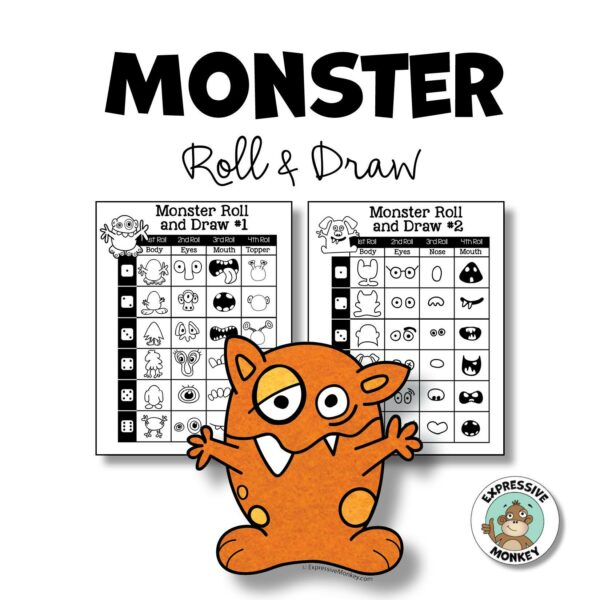 Monster Roll & Draw Activity